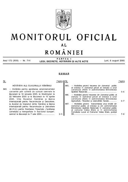 File:Monitorul Oficial al României. Partea I 2005-08-08, nr. 714.pdf