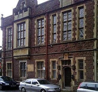 Glendower Street, Monmouth - Image: Monmouth Buildings in Glendower Strret Nelson Rooms