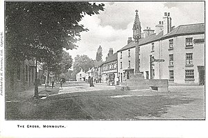 The Cross, Monmouth - Image: Monmouth The Cross Cinderhill Street 1900's