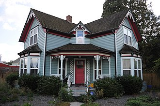 Monroe, Washington - This old house near the center of Monroe was once used as an antique shop.