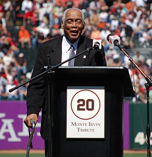 Monte Irvin - Irvin at his number retirement ceremony, 2010