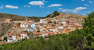 Monterde Place in Aragon, Spain