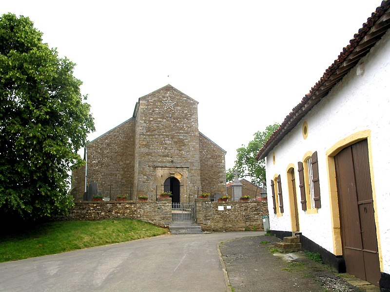 Montquintin (Belgium), the St Quentin church (XIIth century).