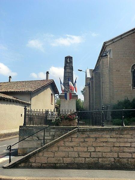 Monument aux morts de Misérieux.