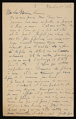 Morgan Russell - Image: Morgan russell letter to jean lemoine