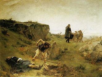 Henri de la Rochejaquelein - The Death of Henri de La Rochejaquelein, painting by Alexandre Bloch