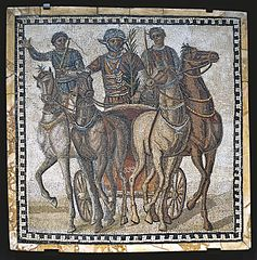 Mosaic with charioteers