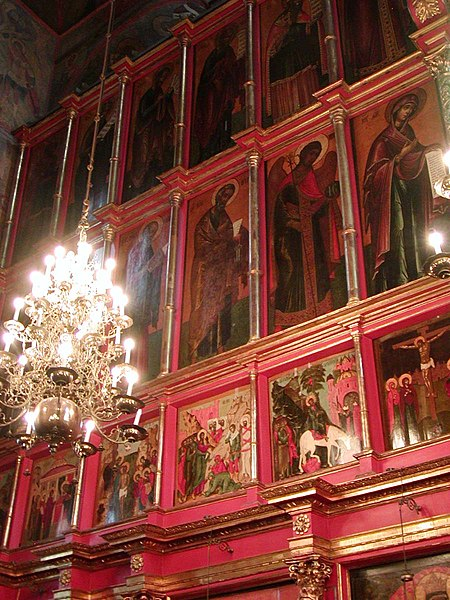 Fitxer:Moscow Archangel Michael Cathedral interior.jpg