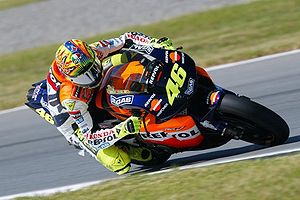 Valentino Rossi - Rossi riding his Honda RC211V MotoGP bike