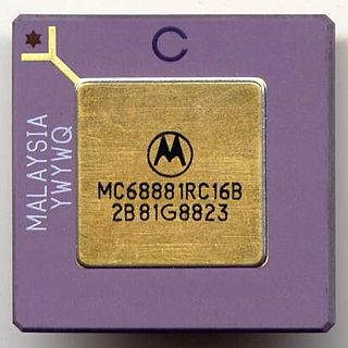 Motorola 68881 floating-point coprocessor for the Motorola 68k