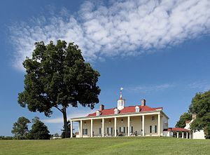 Mount Vernon - The eastern façade, facing the Potomac River