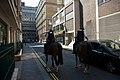 Mounted Police in John Adam Street, London.jpg