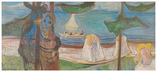 Munch, Sommertag (1904, Linde Frieze)