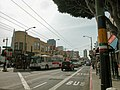 Muni route 30 trolleybus on Stockton at Columbus, March 2005.jpg