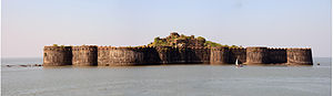 Murud-Janjira - View of the fort from land