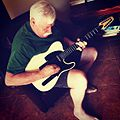 My dad playing the 12-string he built. Modeled after Fender Telecaster. Nice! musicalfamily.jpg