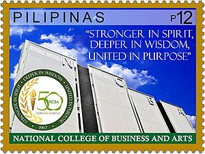 National College of Business and Arts - 2017 stamp of the Philippines dedicated to the 50th anniversary of NCBA