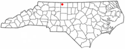 Location of Stoneville, North Carolina