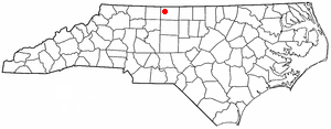Stoneville, North Carolina - Image: NC Map doton Stoneville