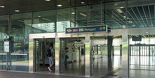 Punggol MRT/LRT station interchange station of the North East MRT Line and the Punggol LRT Line in Singapore