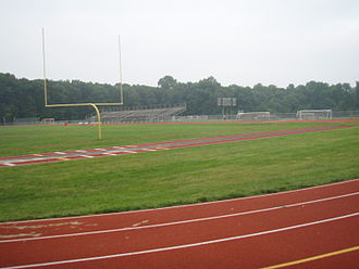 Northern Highlands Regional High School - A track and football field at the stadium at Northern Highlands Regional High School