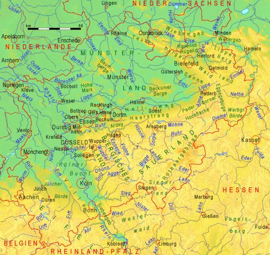 Landschaften und flüsse nordrhein westfalens