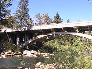 Nevada State Route 425 - SR 425 crosses the Truckee River in Verdi