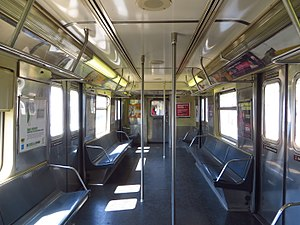 R42 (New York City Subway car) - Image: NYC Subway R42 4573 Interior