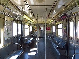 R42 (New York City Subway car) - Image: NYC Subway R42 4573 Interior