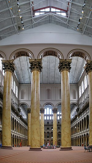 The interior of the National Building Museum i...