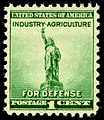National Defense Statue of Liberty 1c 1940 issue U.S. stamp.jpg