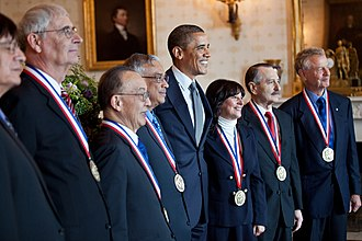 Jacqueline Barton - Barton (third right) receiving the National Medal of Science at the White House in 2011