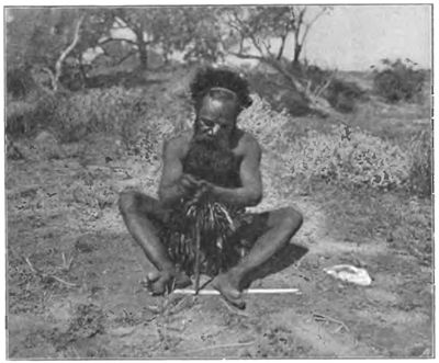 Native tribes of South-East Australia Fig 54 - Urabunna man making fire.jpg