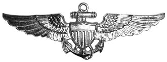 Observer Badge - The original Naval Aviation Observer Insignia was identical to the Naval Aviator Insignia except it was made out of silver.