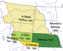 Location of Nebraska Territory