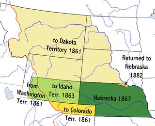 Nebraska Territory territory of the USA between 1854-1867