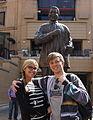 Nelson Mandela Statue Sandton Square.JPG