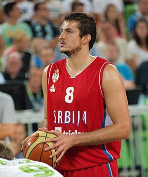 Nemanja Bjelica - Bjelica with the Serbian national team in August 2015