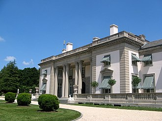 Nemours Mansion and Gardens - Nemours Mansion from the front