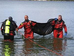 Public safety diving - Image: Nesconset FD Scuba rescue team 14539 1260599469392 483590 n