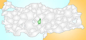 Nevşehir Turkey Provinces locator.jpg