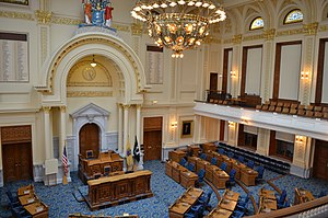 New Jersey State House - The General Assembly chamber