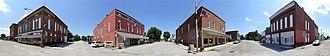 New Richmond, Indiana - The corner of Wabash and Washington streets