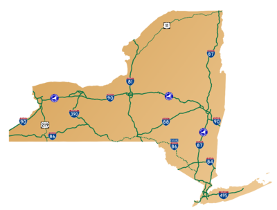 New York - Major Routes map.png