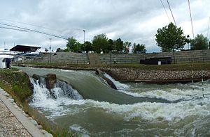 Niagara Drop at Cunovo Whitewater Center Danube River Slovakia.jpg