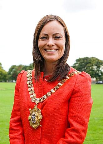 Nichola Mallon - Mallon as Lord Mayor of Belfast in 2014