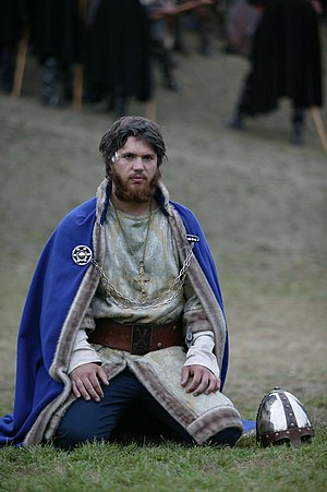 Nicolai Cleve Broch - Broch acting as king Olaf II of Norway in The Saint Olav Drama at Stiklestad 2004