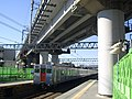 Nishiya station overhead Shinkansen girder bridge 02.jpg