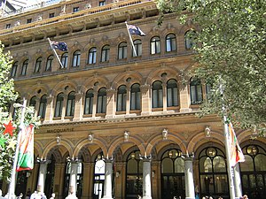 Palazzo style architecture - The General Post Office Building, Sydney, by James Barnet is in the Venetian Renaissance style. 1866-80