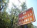 No vehicles allowed.JPG
